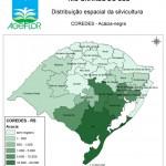 Distribuição Espacial da Silvicultura RS_COREDES - acacia