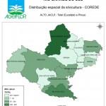 Distribuição Espacial da Silvicultura RS_C_Alto Jacui