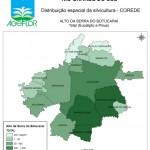 Distribuição Espacial da Silvicultura RS_C_Alto da Serra do Botucarai