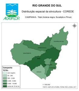 Distribuição Espacial da Silvicultura RS_C_Campanha