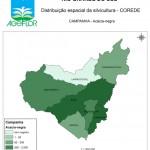 Distribuição Espacial da Silvicultura RS_C_Campanha - acacia