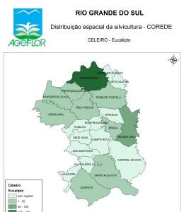Distribuição Espacial da Silvicultura RS_C_Celeiro - eucalipto