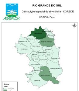 Distribuição Espacial da Silvicultura RS_C_Celeiro - pinus