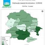 Distribuição Espacial da Silvicultura RS_C_Central - eucalipto