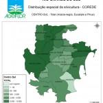 Distribuição Espacial da Silvicultura RS_C_Centro-Sul