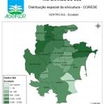 Distribuição Espacial da Silvicultura RS_C_Centro-Sul - eucalipto