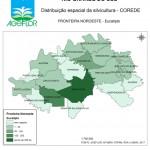 Distribuição Espacial da Silvicultura RS_C_Fronteira Noroeste - eucalipto