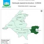 Distribuição Espacial da Silvicultura RS_C_Fronteira-Oeste - acacia