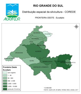 Distribuição Espacial da Silvicultura RS_C_Fronteira-Oeste - eucalipto