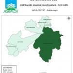 Distribuição Espacial da Silvicultura RS_C_Jacui-Centro - acacia