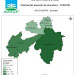 Distribuição Espacial da Silvicultura RS_C_Jacui-Centro - eucalipto