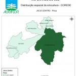 Distribuição Espacial da Silvicultura RS_C_Jacui-Centro - pinus