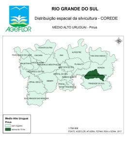 Distribuição Espacial da Silvicultura RS_C_Medio Alto Uruguai - pinus