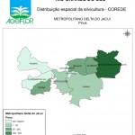 Distribuição Espacial da Silvicultura RS_C_Metropolitano Delta do Jacui - pinus