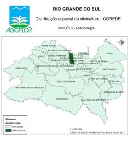 Distribuição Espacial da Silvicultura RS_C_Missoes - acacia