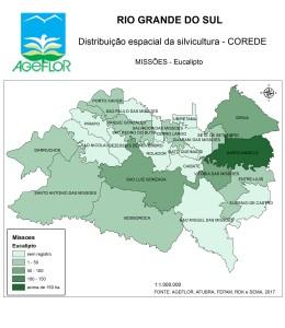 Distribuição Espacial da Silvicultura RS_C_Missoes - eucalipto
