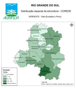 Distribuição Espacial da Silvicultura RS_C_Nordeste