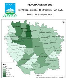 Distribuição Espacial da Silvicultura RS_C_Norte