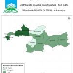 Distribuição Espacial da Silvicultura RS_C_Paranhana Encosta da Serra - acacia