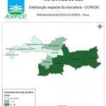Distribuição Espacial da Silvicultura RS_C_Paranhana Encosta da Serra - pinus
