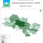 Distribuição Espacial da Silvicultura RS_C_Producao - eucalipto