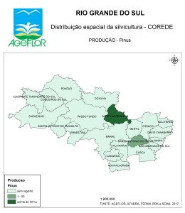 Distribuição Espacial da Silvicultura RS_C_Producao - pinus