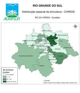 Distribuição Espacial da Silvicultura RS_C_Rio da Varzea - eucalipto