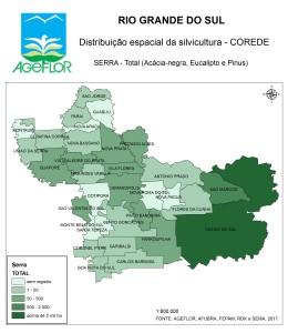 Distribuição Espacial da Silvicultura RS_C_Serra