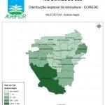Distribuição Espacial da Silvicultura RS_C_Vale do Cai - acacia