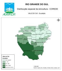 Distribuição Espacial da Silvicultura RS_C_Vale do Cai - eucalipto