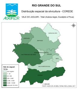 Distribuição Espacial da Silvicultura RS_C_Vale do Jaguari