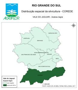 Distribuição Espacial da Silvicultura RS_C_Vale do Jaguari - acacia