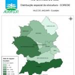 Distribuição Espacial da Silvicultura RS_C_Vale do Jaguari - eucalipto