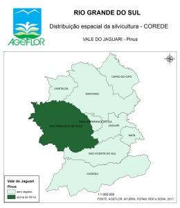 Distribuição Espacial da Silvicultura RS_C_Vale do Jaguari - pinus