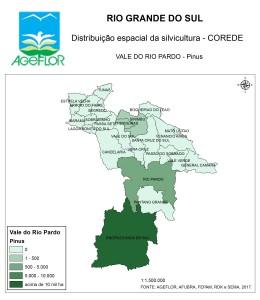 Distribuição Espacial da Silvicultura RS_C_Vale do Rio Pardo - pinus