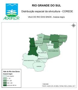 Distribuição Espacial da Silvicultura RS_C_Vale do Rio dos Sinos - acacia