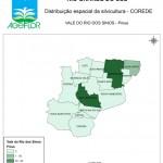 Distribuição Espacial da Silvicultura RS_C_Vale do Rio dos Sinos - pinus