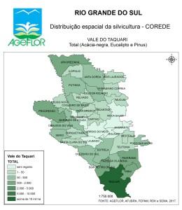 Distribuição Espacial da Silvicultura RS_C_Vale do Taquari