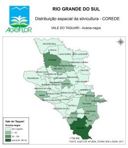 Distribuição Espacial da Silvicultura RS_C_Vale do Taquari - acacia