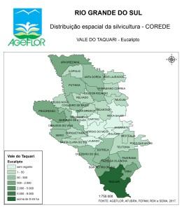 Distribuição Espacial da Silvicultura RS_C_Vale do Taquari - eucalipto