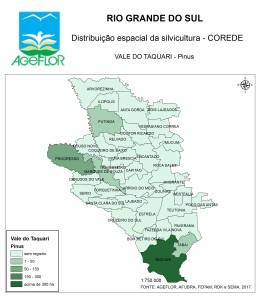 Distribuição Espacial da Silvicultura RS_C_Vale do Taquari - pinus