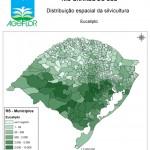Distribuição Espacial da Silvicultura RS_mun - eucalipto
