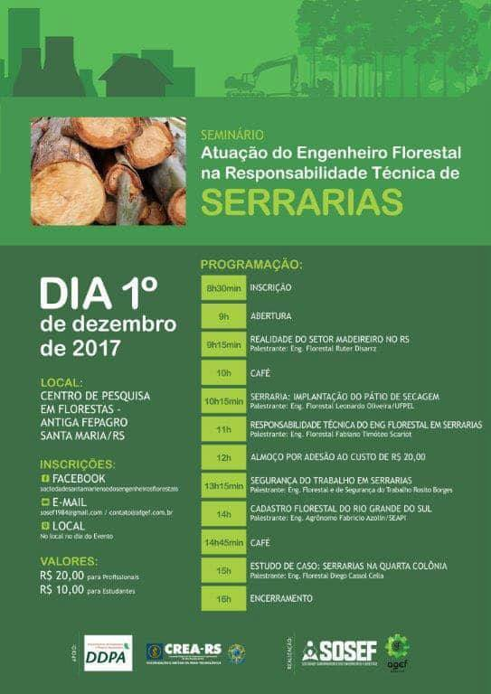 Atuação do Engenheiro Florestal na Responsabilidade Técnica de Serrarias